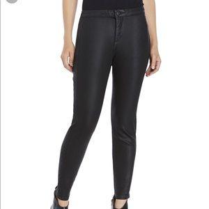 NYDJ Antonia Coated Denim Legging Jeans Black 8P